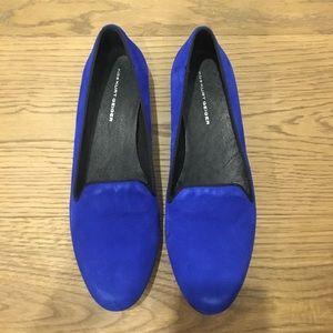 kurt geiger Shoes - Kurt Geiger blue velvet flats never worn!