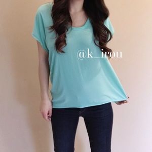 Lush Tops - Lush silky short sleeve blouse