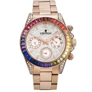 Croton Other - New Croton Australia crystal rose gold watch