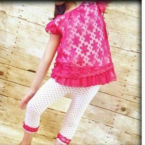 Little Lass Other - FIRM🚨 NWT Girls 5 2 Pc Outfit Dress Pink Capris
