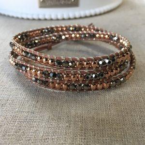 NWT Stella & Dot Wanderlust Triple Wrap Bracelet