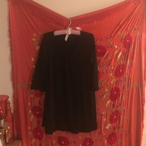 Eileen Fisher black  mini dress