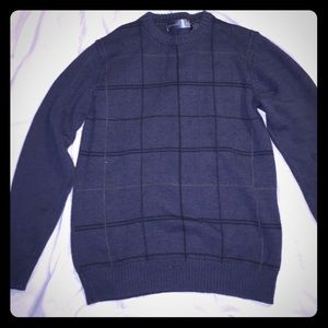 Oscar de la renta crew neck cotton blend sweater