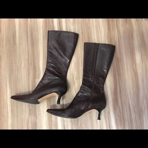 Francesco Sacco Shoes - Francesco Sacco Brown Leather High Heel Boots