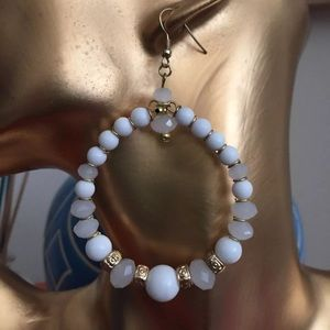 White and gold hoops!
