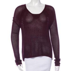 rag & bone Sweaters - Rag & Bone Burgundy Open Weave Sweater