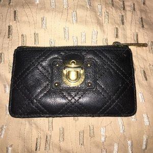 Marc Jacobs black leather zipper pouch 