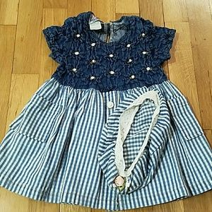 It's Baby! Other - TODDLER DENIM DRESS WITH HAT!!!