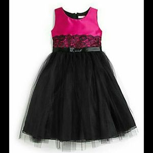 Zoe Ltd Other - Zoe Ltd Fuchsia Pink & Black Party Dress NWT