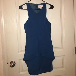keepsake Dresses & Skirts - Turquoise blue peplum dress