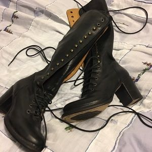 Fiorentini + Baker Shoes - Fiorentini & baker lace up blk boot made in Italy