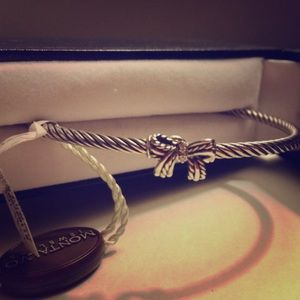 David Yurman Cable Ribbon bracelet w/ Diamonds