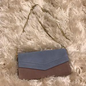 Handbags - NWOT Faux suede convertible clutch/shoulder purse