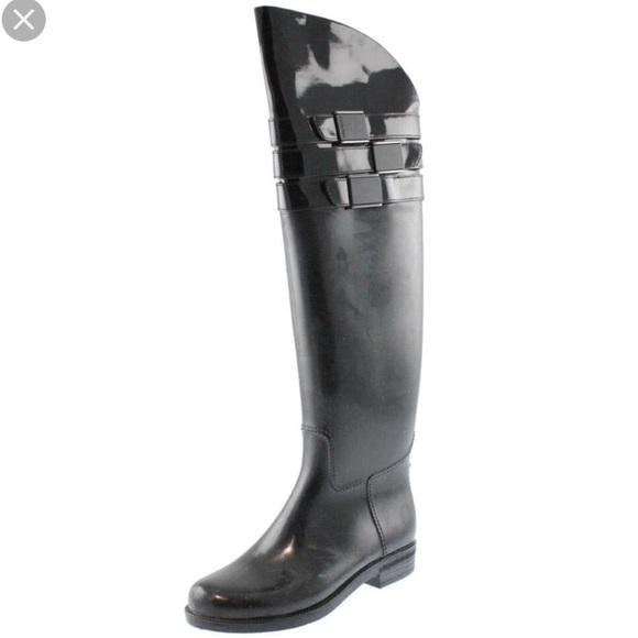 4e4be9239f9 Calvin Klein Shoes - Calvin Klein over the knee rain boots