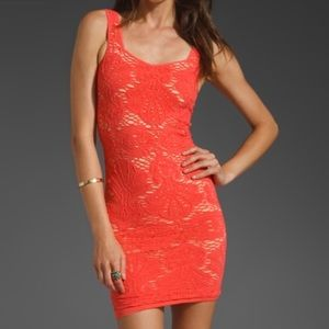 NWT INTIMATELY FREE PEOPLE PERSIMMON STRETCH DRESS