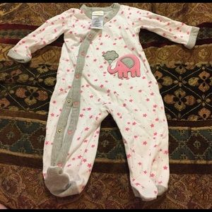 Absorba Other - Like new baby girl footie pajama