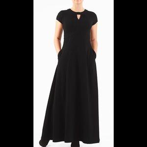 eshakti Dresses & Skirts - New Eshakti Black Knit Maxi Dress L 14