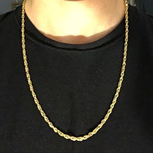 Other - Gold Chain 14k gold 24in 5mm link Rope Chain