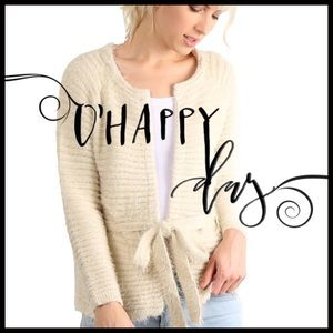 Boutique Sweaters - Silky Soft Tie-Front Cardi