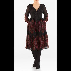 eshakti Dresses & Skirts - New Eshakti Boho Fit & Flare Dress M 8