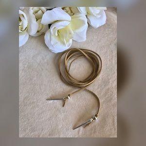 Jewelry - ✨New! Long Velvet Tie Choker (Tan Edition)