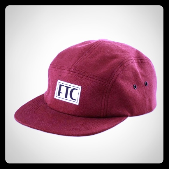 f7e63c11e43 FTC  For The City  VHS CAMPER HAT BURGUNDY