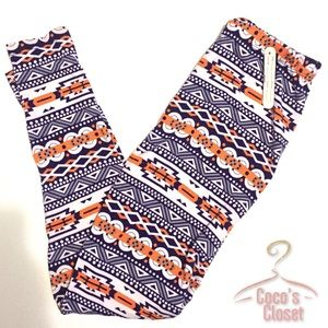 Aztec soft fleece-lined leggings
