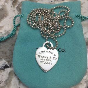 Tiffany & Co long dog tag necklace