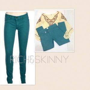 Rich & Skinny Denim - Rich &Skinny cropped colored skinny jeans