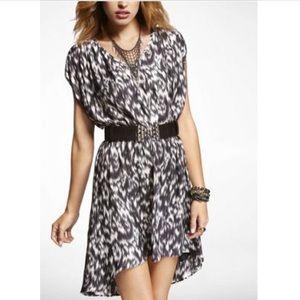 Hi-Lo Hem Express Elastic Waist Dress
