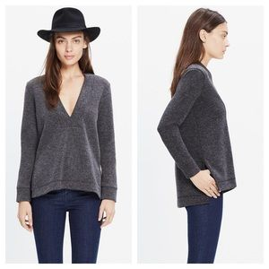 Madewell Low V pullover top