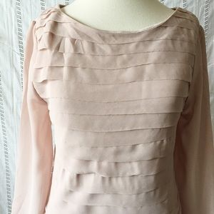 Tops - H&M Taupe Blouse Shirt 3/4 Sleeve NWT Small