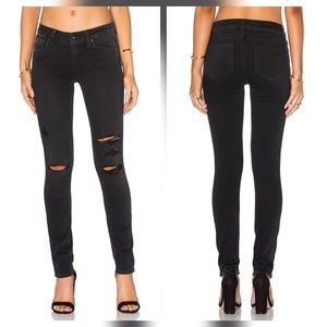 Paige Jeans Denim - Paige Verdugo Ankle Faded Carbon Black Jeans