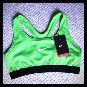 Neon Green Nike Sports Bra with black accents