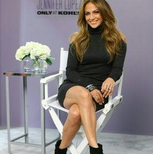 💋NWT Jlo Jennifer Lopez black wedge booties