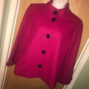 Apostrophe Jackets & Blazers - ⬇Pink wool blend coat