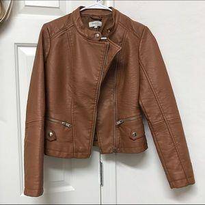Jackets & Blazers - Brown pleather jacket