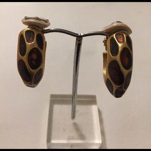 Jewelry - Animal Skin Clip on hoop earrings