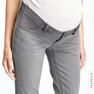 Pants - Maternity Gray Side-Panel Skinny Rockstar Jeans