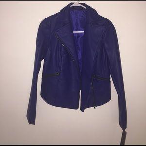 ✨✨ NWT blue leather jacket ✨✨
