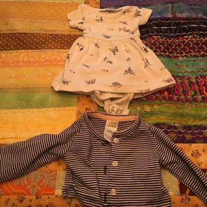 Carter's Other - Like new bicycle dress and stripe cardigan