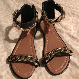 Josmo Other - Black and gold girls sandals