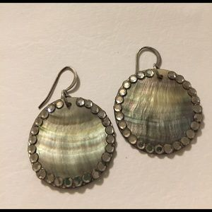 Jewelry - Mother of pearl Coin Earrings