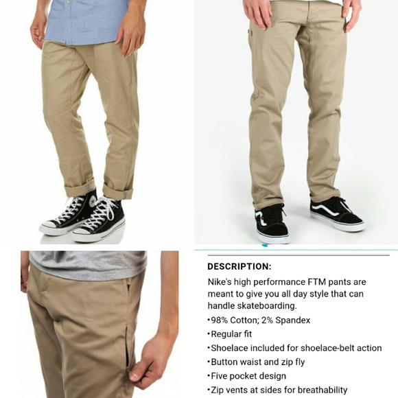 1039314c5a65 Mens Nike SB khaki Chino skateboard pants. M 58941c89620ff7d1a8027a67