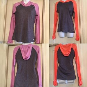 Soffe Tops - Lot of 2 Soffe Long Sleeve hooded T-shirts. Small.