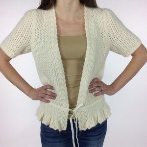 Ann Taylor Sweaters - Ann Taylors Lambs wool Cream Cardigan