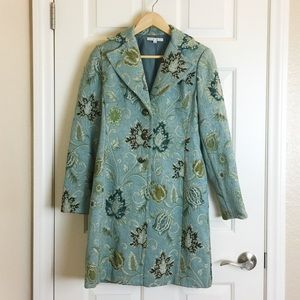 CAbi Jackets & Blazers - CAbi Blue Tapestry Coat
