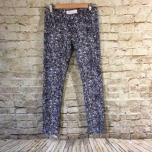 IRO Denim - IRO Jeans Abstract Print Slim Fit Skinny Leg Jean