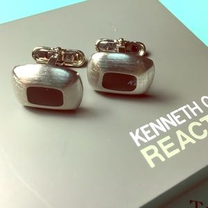 Kenneth Cole Reaction Other - Kenneth Cole Reaction square silver cufflinks