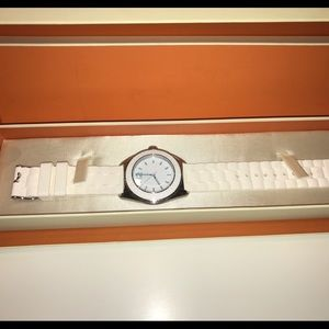 Coach all white ceramic watch